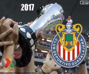 Puzzle C.D. Guadalajara, champion Clausura 2017