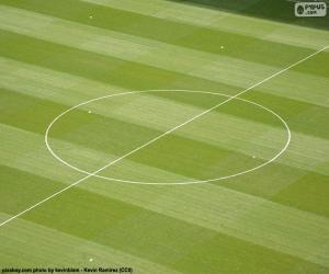 Puzzle Cercle central d'un terrain de football