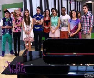Puzzle Certains des personnages de Violetta 2