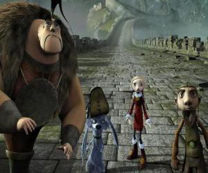 Puzzle Certains des protagonistes des aventures de Gwizdo, Zoé, Hector et Lian-Chu