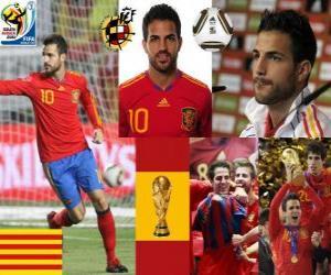 Puzzle Cesc Fàbregas (Barcelone est l'avenir de) milieu de terrain de l'équipe nationale Espagnol
