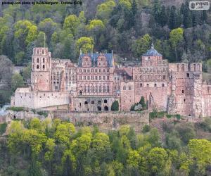 Puzzle Château de Heidelberg, Allemagne