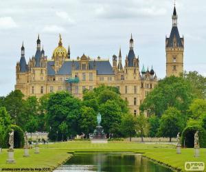 Puzzle Château de Schwerin, Allemagne