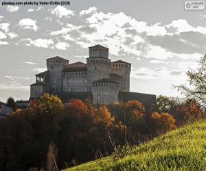 Puzzle Château de Torrechiara, Italie