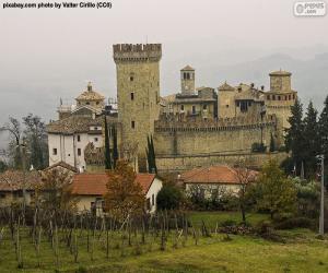 Puzzle Château de Vigoleno, Italie