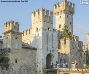 Puzzle Château Scaligero, Italie