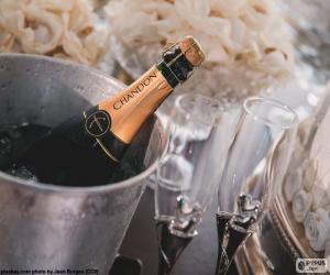 Puzzle Champagne et verres