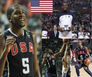 Puzzle Championnat Kevin Durant MVP du Monde 2010 FIBA