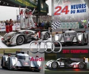 Puzzle Champions des 24 Heures du Mans 2011 Audi R18 TDI