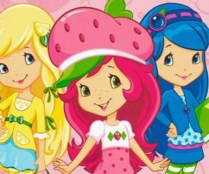 Puzzle Charlotte aux fraises et ses amis