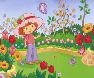 Puzzle Charlotte aux fraises ou Fraisinette regardant la nature