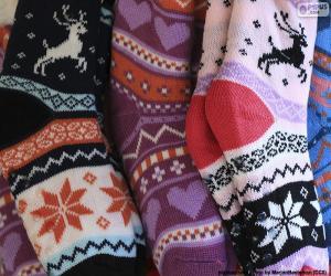 Puzzle Chaussettes d'hiver