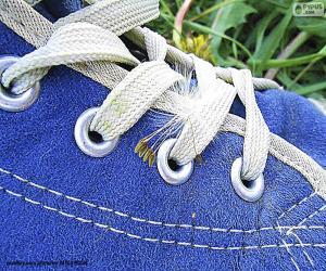 Puzzle Chaussure bleue