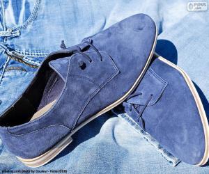 Puzzle Chaussures bleus