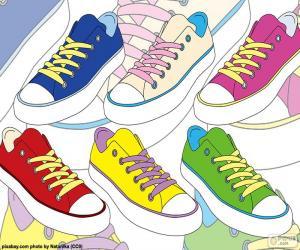 Puzzle Chaussures de sport de couleurs