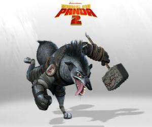 Puzzle Chef Loup, le plus fidèle serviteur Shen, un grand stratège militaire et son pied droit fidèle