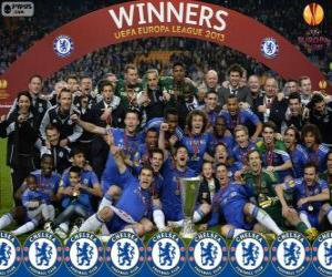 Puzzle Chelsea FC, champion UEFA Europe League 2012-2013