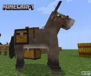 Puzzle Cheval de Minecraft