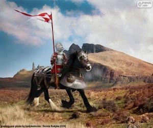 Puzzle Chevalier à cheval