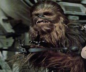 Puzzle Chewbacca, le grand et poilu wookiee, a braqué son arme