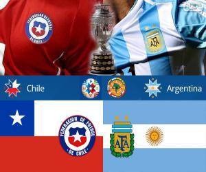 Puzzle CHI - ARG, finale Copa America 15