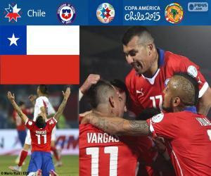 Puzzle CHI finaliste, Copa America 2015