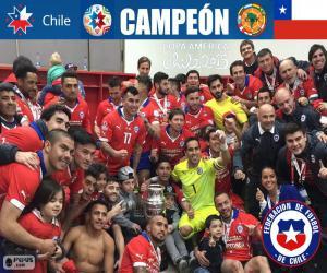 Puzzle Chili, champion Copa America 2015