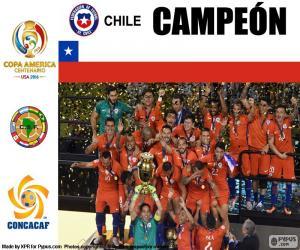Puzzle Chili, champion Copa America 2016