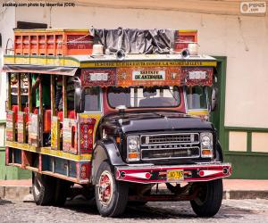 Puzzle Chiva, véhicule