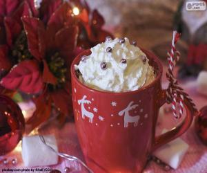 Puzzle Chocolat à la c tasse de Noël