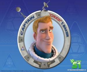 Puzzle Chuck enfant rêvé d'être un astronaute, il est brave, beau et sûr de lui