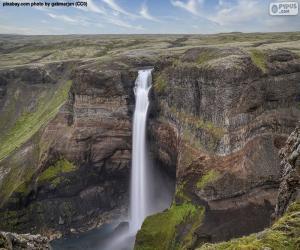 Puzzle Chute d'eau de Háifoss, Islande