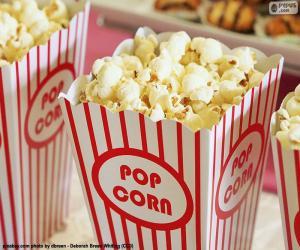 Puzzle Cinéma pop-corn