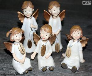 Puzzle Cinq anges de Noël