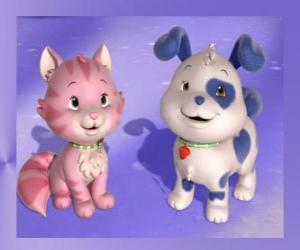 Puzzle Clafoutis est le chiot de Charlotte aux fraises avec Pralinette est le chaton de Charlotte aux fraises