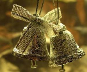 Puzzle Cloches de Noël avec des rubans