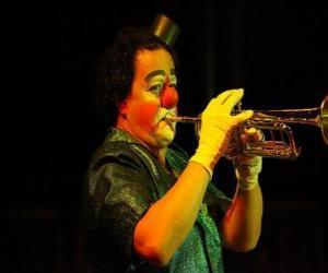 Puzzle Clown jouer de la trompette
