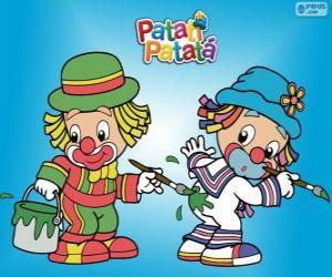 Puzzle Clowns Patati Patatá, deux peintres
