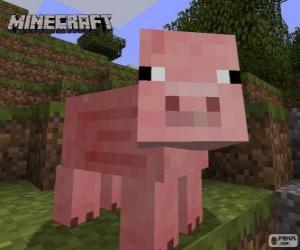 Puzzle Cochon de Minecraft