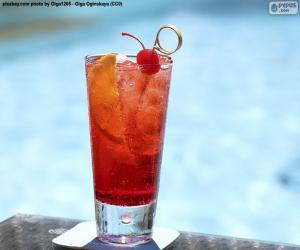 Puzzle Cocktail au bord de la piscine