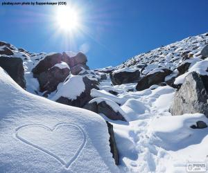 Puzzle Coeur dans la neige