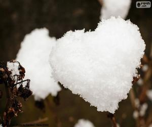 Puzzle Coeur de neige