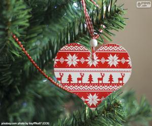 Puzzle Coeur de Noël