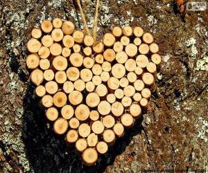 Puzzle Coeur des troncs