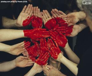 Puzzle Coeur en mains
