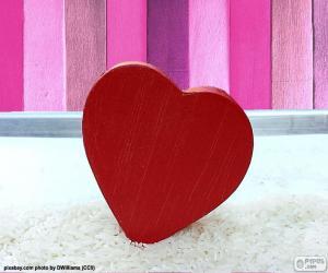 Puzzle Coeur rouge