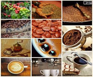 Puzzle Collage de café