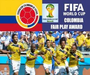 Puzzle Colombie, Prix du Fair-Play. Coupe du monde de Football Brésil 2014
