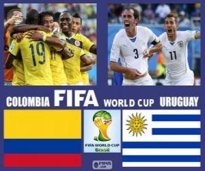 Puzzle Colombie - Uruguay, huitième de finale, Brésil 2014