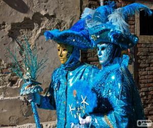 Puzzle Costumes bleu